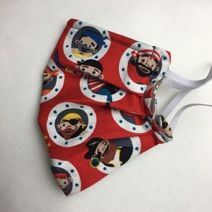 Other - CHILD'S FACE MASK w/ Filter Pocket and Nose Wire